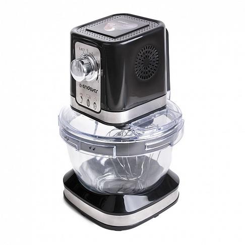 Стационарный миксер Endever Sigma 27, черный, мощность 600Вт., планетарная система, чаша 4л