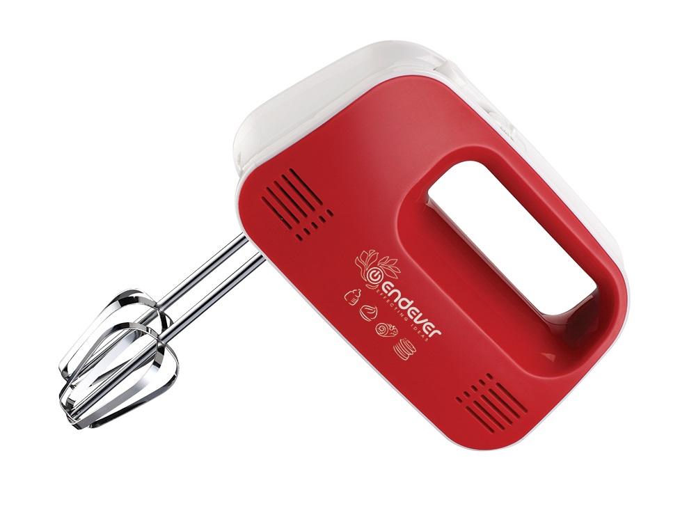 Миксер ручной Endever Sigma 04 белый/красный.