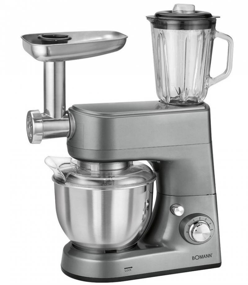все цены на Кухонный комбайн Bomann KM 1373 CB титан онлайн