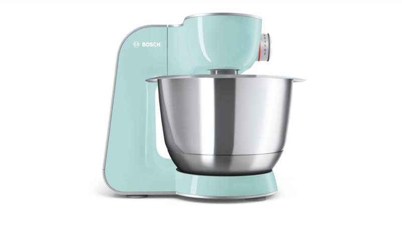Кухонный комбайн Bosch MUM58020 серебристо-зеленый