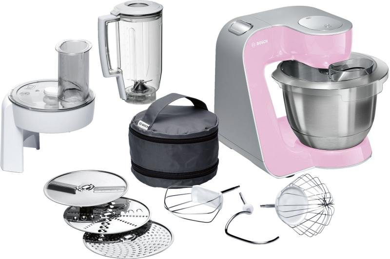 Кухонный комбайн Bosch MUM58K20 серебристо-розовый