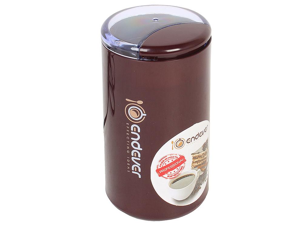 Кофемолка Endever Costa-1055, 250 Вт, 15000 об/мин, вес продукта для помола 100 гр, ABS-пластик, защита от перегрева двигателя кофеварка endever costa 1042
