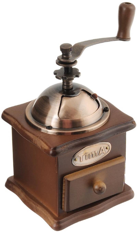 Кофемолка TimA SL 008 ручная коричневый кофемолка ручная tima сферическая кс 02