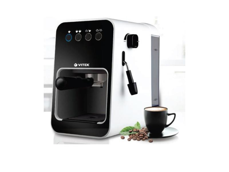 Кофеварка VITEK VT-1504(BW) ( 850Вт. 15 бар. 1,5л. Съемный поддон для капель)