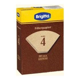 Фильтры бумажные, размер 4, 80 шт., кор.