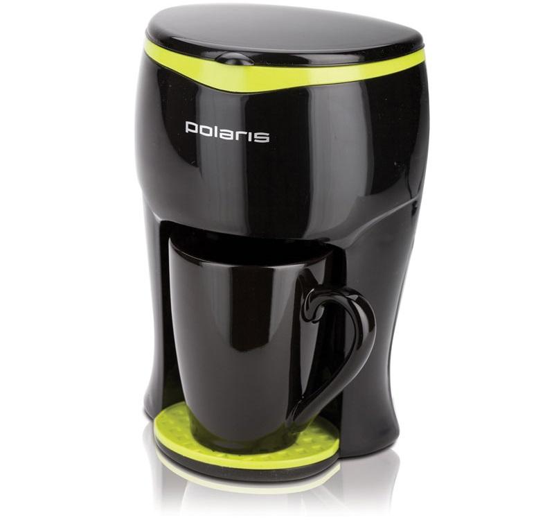 Кофеварка POLARIS PCM 0109, Черный/салатовый sempercare перчатки без пудры неопудренные