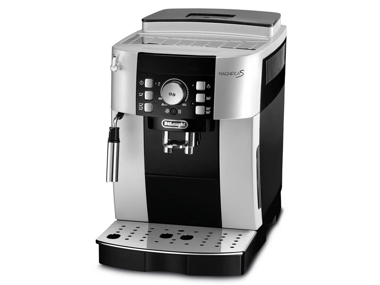 Кофемашина DeLonghi ECAM 21.117.SB, 1450Вт, давление 15 бар, эспрессо, капучино, автомат, д/зернового и молотого, серибристый/черный