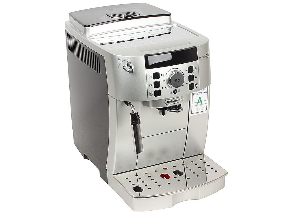 Кофемашина DeLonghi ECAM 21.117.S ETAM, мощность 1450Вт, давление помпы 15Бар, регулировка степени помола, тип кофе- молотый/зерновой, самоочистка, ка кофемашина delonghi magnifica s ecam 21 117 b