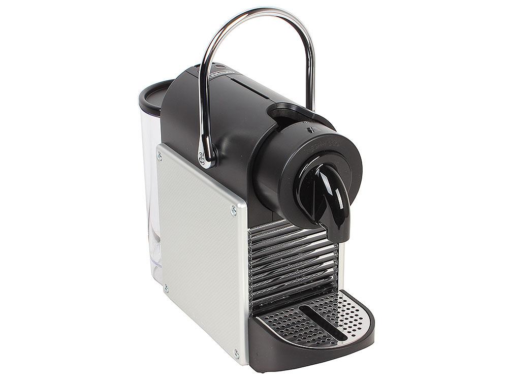 Кофемашина DeLonghi EN 125 S Nespresso Pixie, капсульная, серебристый капсульная кофеварка delonghi nespresso en 750 mb 1400вт цвет серебристый [0132192223]