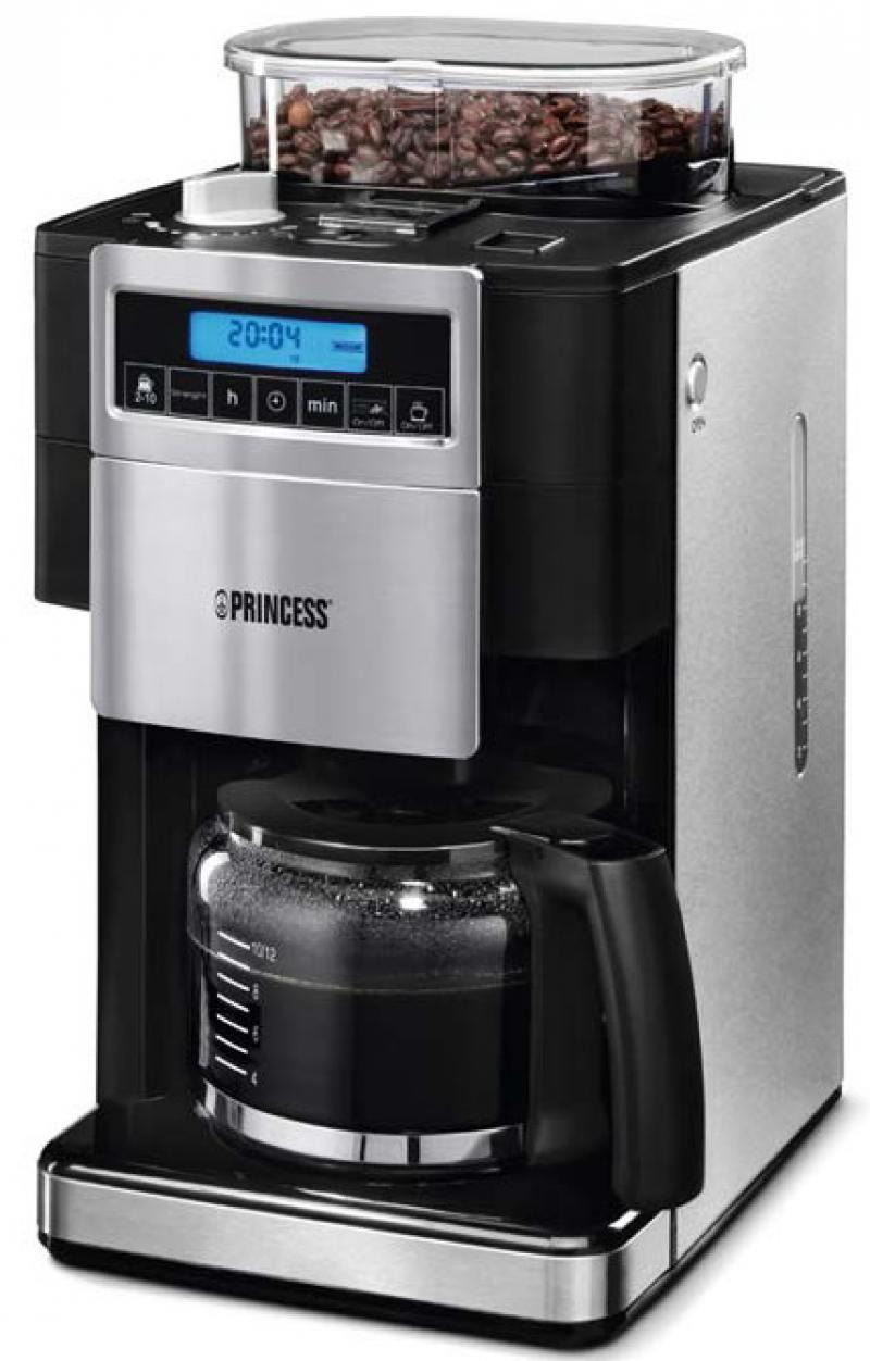Кофеварка Princess 249402 1000 Вт черно-серебристый