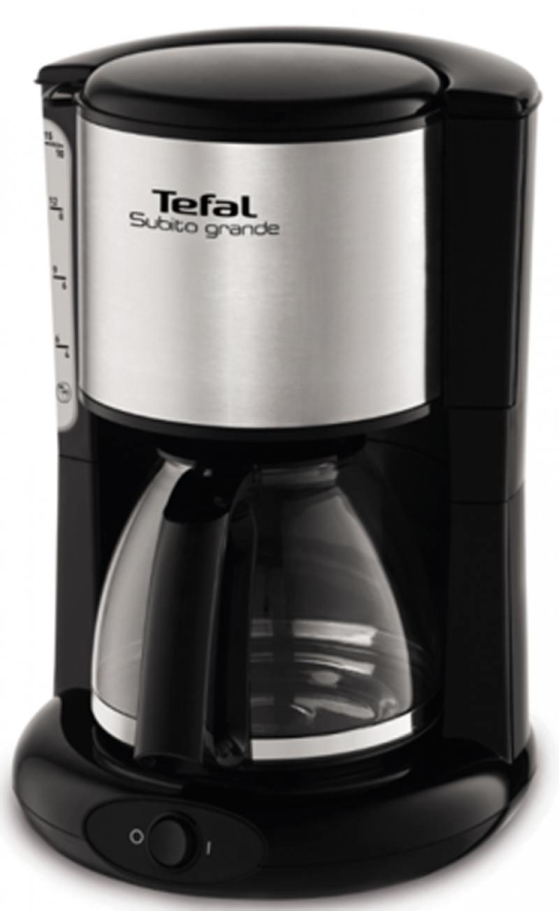 Кофеварка Tefal CM361838 1000 Вт серебристый/черный все цены
