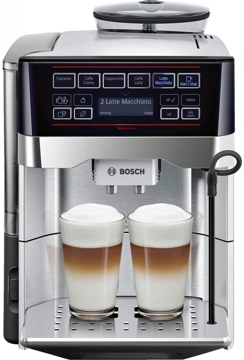 Кофемашина Bosch TES60729RW 1500 Вт черный серебристый цена и фото