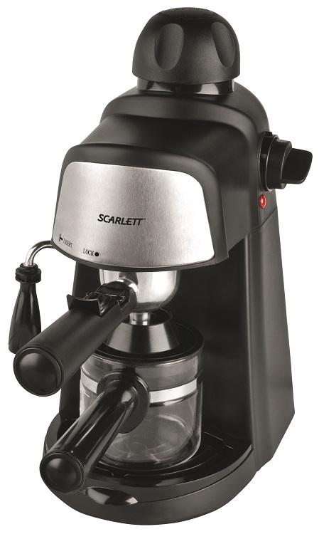 Кофеварка Scarlett SC-037 черный 4 бар 0.2л 800Вт