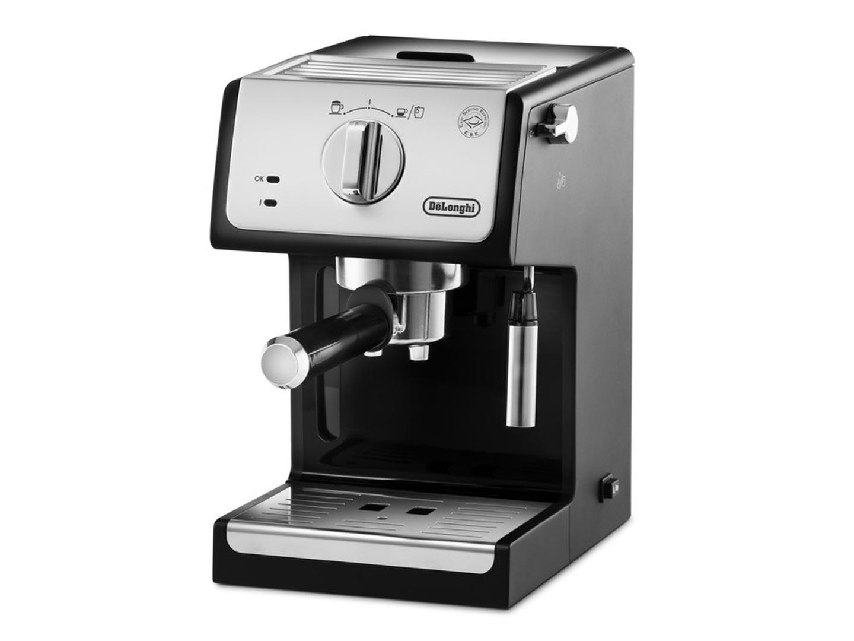Кофеварка рожковая DeLonghi ECP 33.21,15 бар,капучинатор с функц.подачи горяч.воды,автооткл.,металл