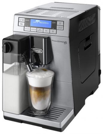 Кофеварка DeLonghi PrimaDonna XS ETAM36.364.M 1450Вт серебристый