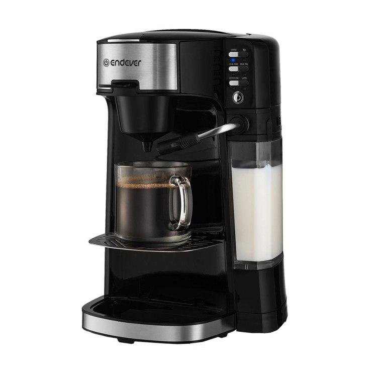 Kофеварка Endever Costa-1070, полуавтомат, эспрессо, капучино, черный