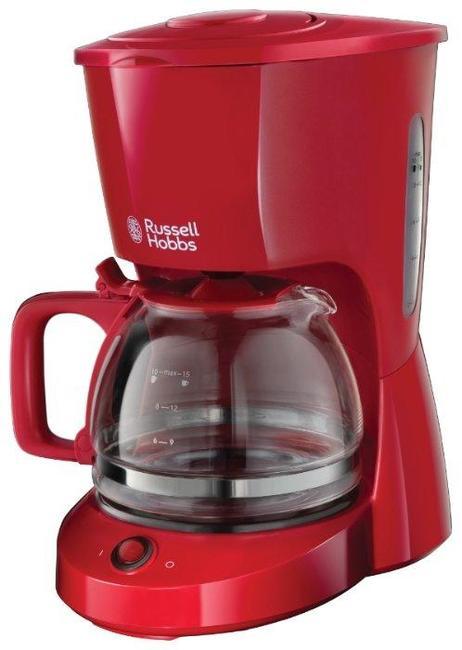 Кофеварка Russell Hobbs 22611-56, капельная, д/молотово, 1000Вт, 1.25л,  автоподогрев, противокапля, красный