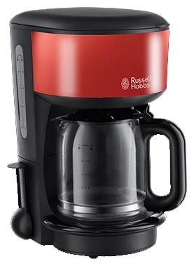 Кофеварка Russell Hobbs 20131-56, капельная, д/молотово, 1000Вт, 1.25л, автоподогрев, противокапля, черный/красный