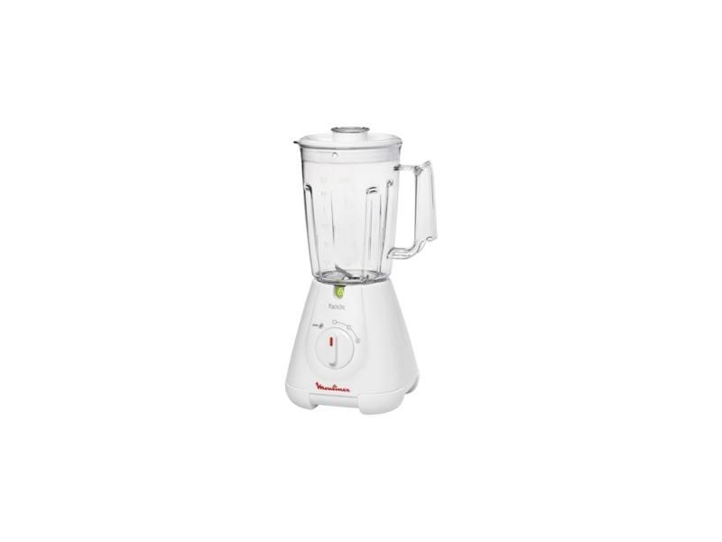 Блендер стационарный Moulinex LM30014E 400Вт белый кухонная машина moulinex qa50adb1