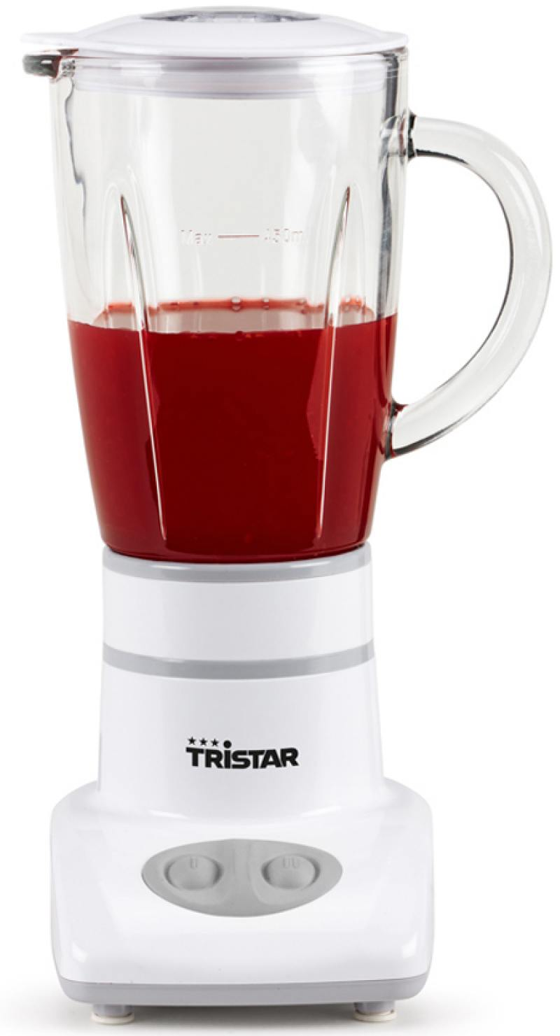Блендер стационарный Tristar BL-4431 180Вт белый электроплитка tristar kp 6245