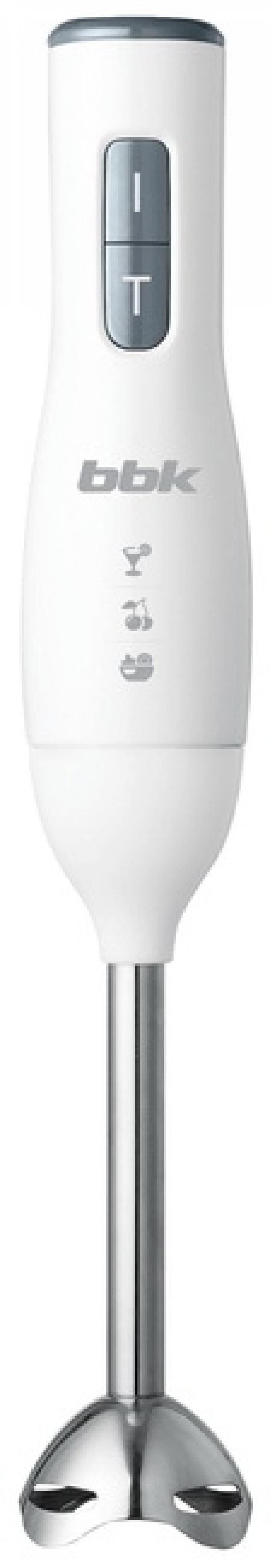 Блендер погружной BBK KBH0302 300Вт серый белый блендер погружной rolsen sm 310mc 300вт бежевый