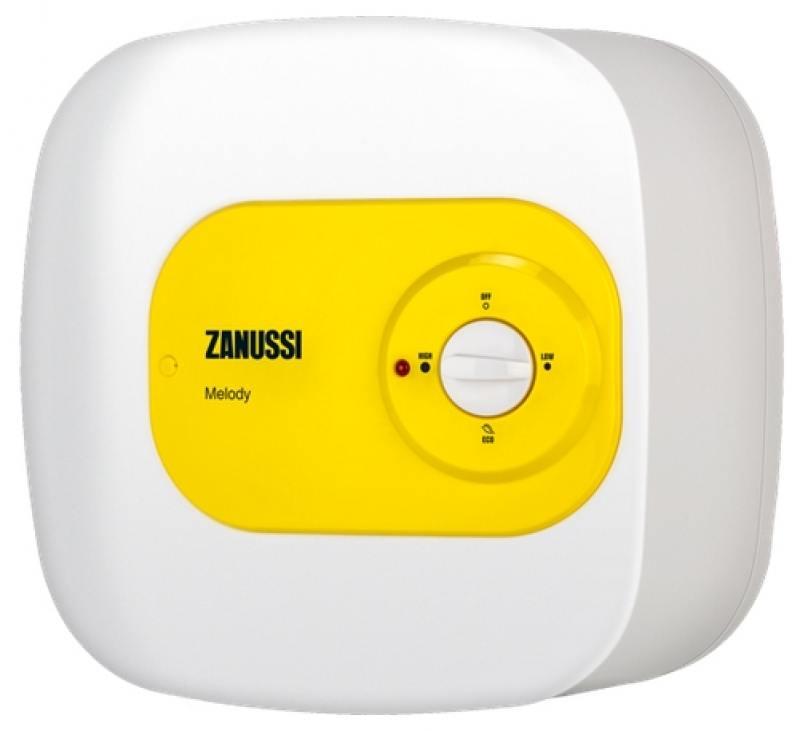 Водонагреватель накопительный Zanussi ZWH/S 15 Melody O 15л 1.5кВт бело-желтый
