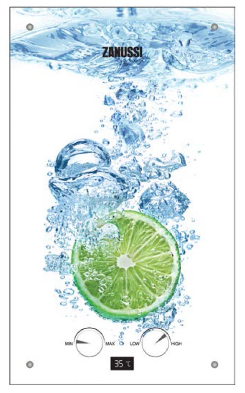 Водонагреватель проточный Zanussi GWH 10 Fonte Glass Lime 18.5 кВт водонагреватель проточный zanussi gwh 10 fonte glass la spezia 18 5 квт