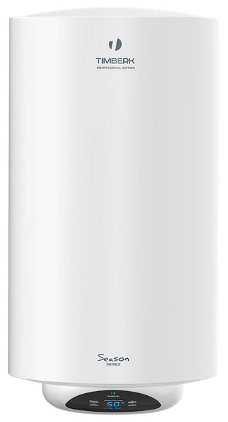 Водонагреватель Timberk SWH RE15 80 V Накопительный 80л, 1,5 кВт, круглый, медный нагр. элемент, внутри эмаль, ?450x740, 24,5 кг, Белый