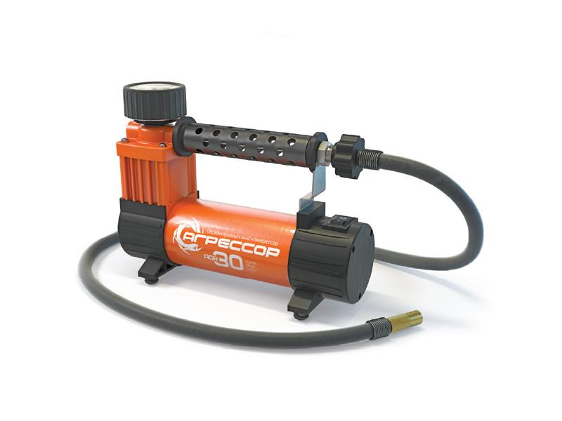 Компрессор автомобильный Агрессор AGR-30, металлический, 12V, 140W, производ-сть 30 л./мин., сумка, 1/8 компрессор для шин 12v 14