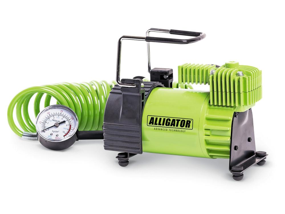 Компрессор автомобильный АЛЛИГАТОР AL-400, металлический, 12V, 180W, производ-сть 40 л./мин., шланг 4 м., переходники для накач., сумка, 1/6