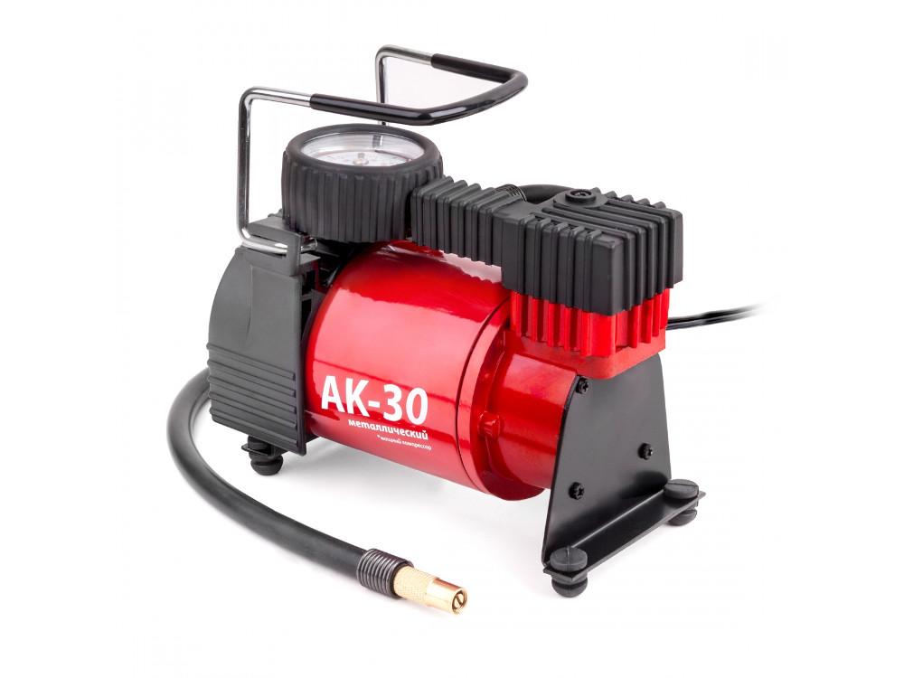 Компрессор автомобильный AUTOPROFI AK-30, металлический, 12V, 120W, производ-сть 30 л./мин., сумка, 1/6