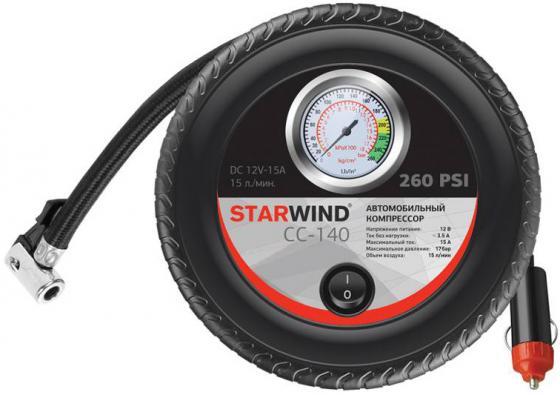 Автомобильный компрессор Starwind CC-140 футболка твое футболка с длин рукавомбел 140 1сорт