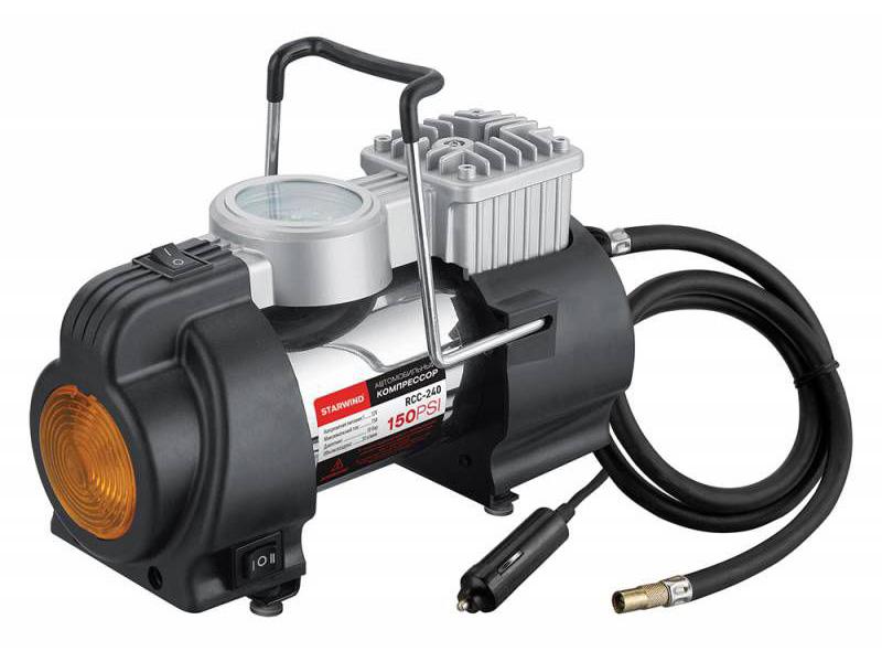 Автомобильный компрессор Starwind CC-240 автомобильный компрессор starwind cc 100 15л мин шланг 0 45м