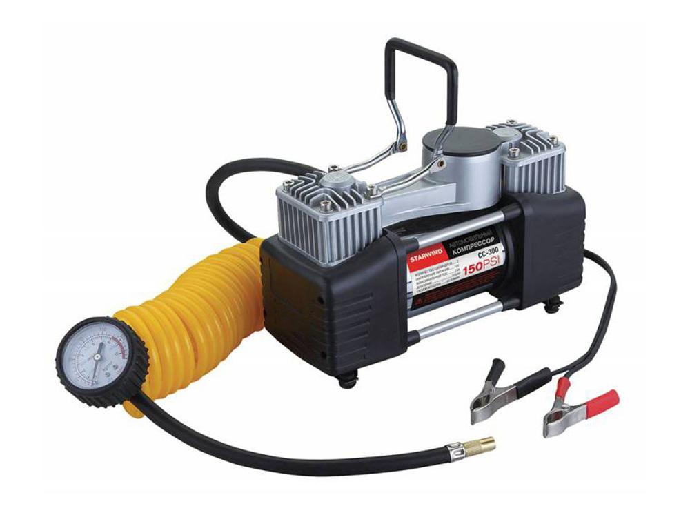 Автомобильный компрессор Starwind CC-300 автомобильный компрессор starwind cc 100 15л мин шланг 0 45м