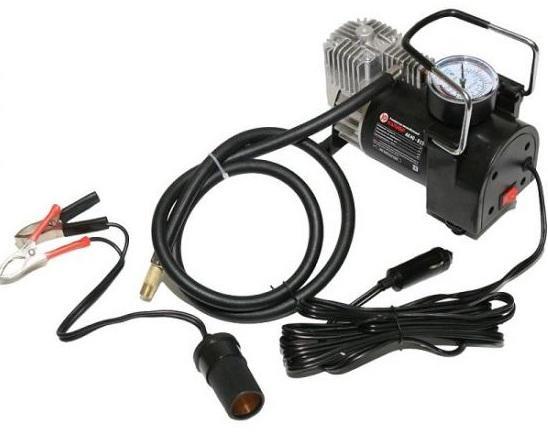 Компрессор автомобильный КАЛИБР AK40-R15 40 л/мин. адаптер под клеммы компрессор автомобильный berkut r15