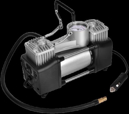 Компрессор автомобильный SKYBEAR 215030 двухпоршневой 12В 3 адаптера 70л/мин 10атм. компрессор автомобильный turbo avs ks 350 l 150вт 12в 14а 35л мин 10атм