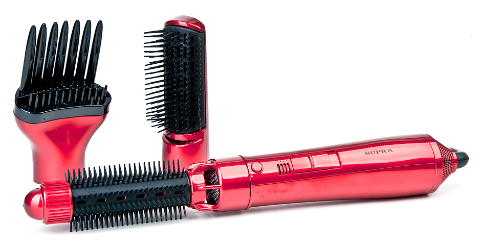 Фен-щетка SUPRA PHS-2030N red