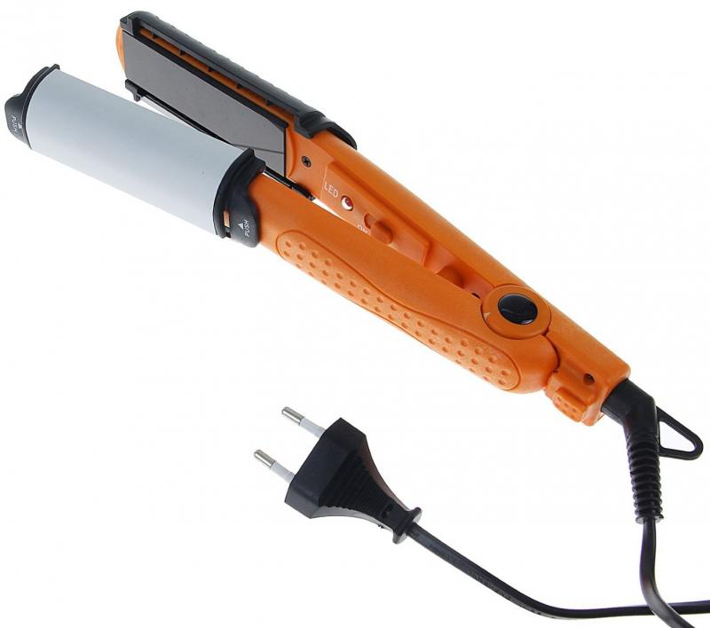 Выпрямитель для волос Zimber ZM-10906 черно-оранжевый zimber zm 10905 выпрямитель для волос