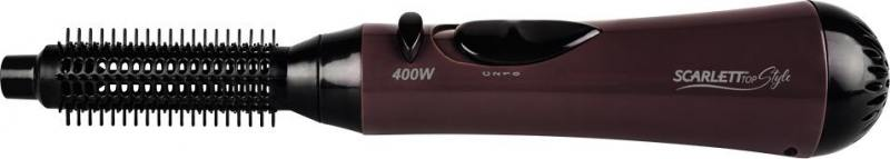 Фен-щетка Scarlett SC-HAS7399 400Вт черно-коричневый