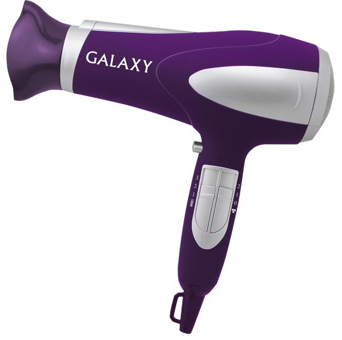 Фен GALAXY GL4324 2200Вт фиолетовый серебристый фен galaxy 1400w