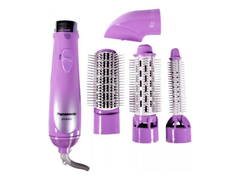 Фен-щетка Panasonic EH KA42 600Вт фиолетовый panasonic eh ka42 v865 фен щетка для волос