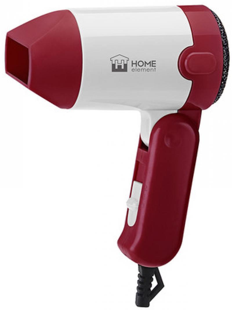 Фен HOME ELEMENT HE-HD313 1000Вт красный рубин