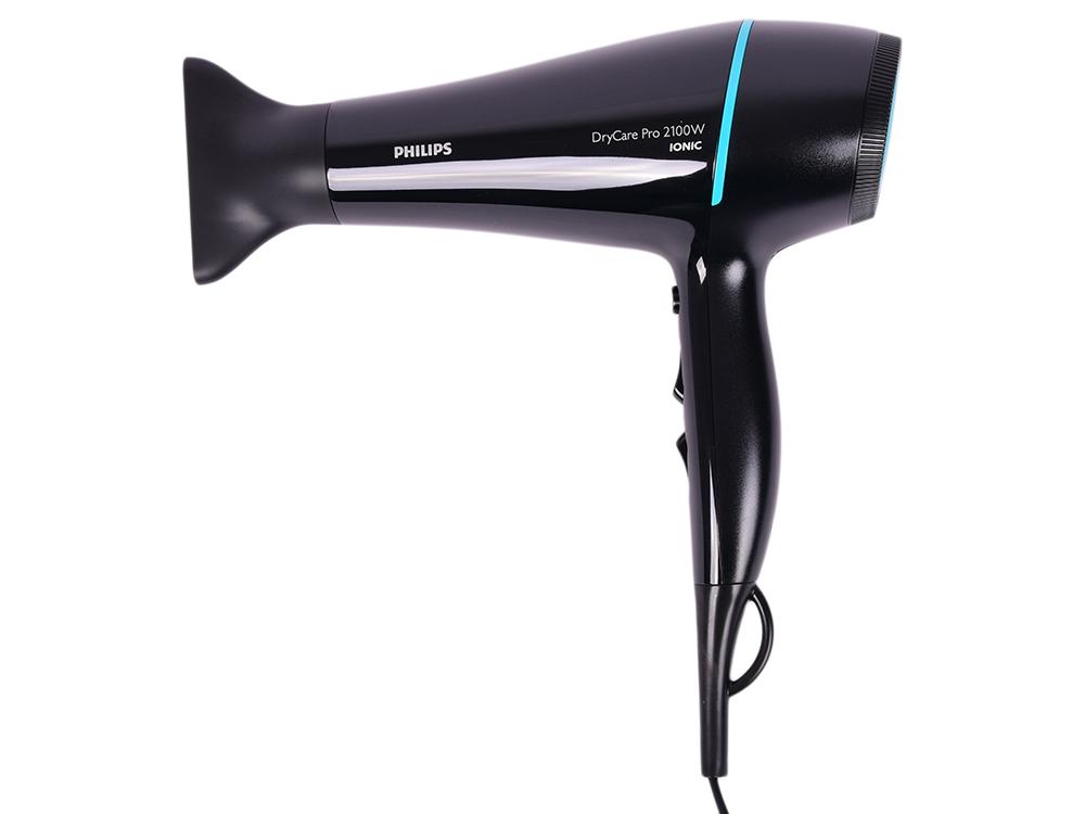 Фен Philips BHD174/00 2100Вт черный/голубой philips shl3160 черный