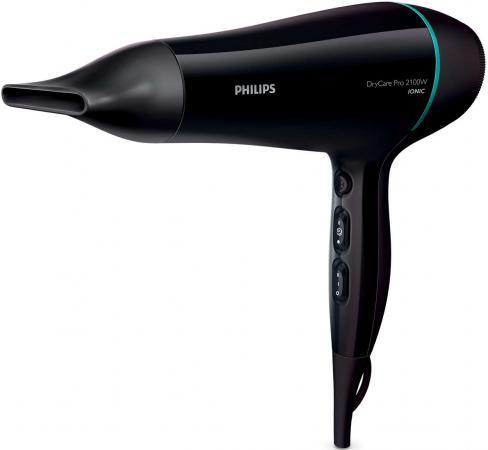 Фен Philips BHD174/00 2100Вт черный/голубой фен philips bhd282 00