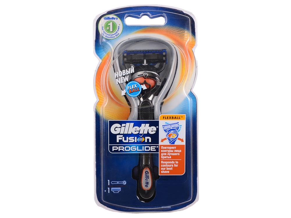 Бритвенный станок Gillette Fusion ProGlide FlexBall мужской черный 81523296