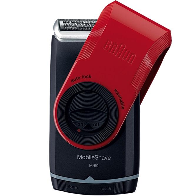Бритва Braun MobileShave M60r красный