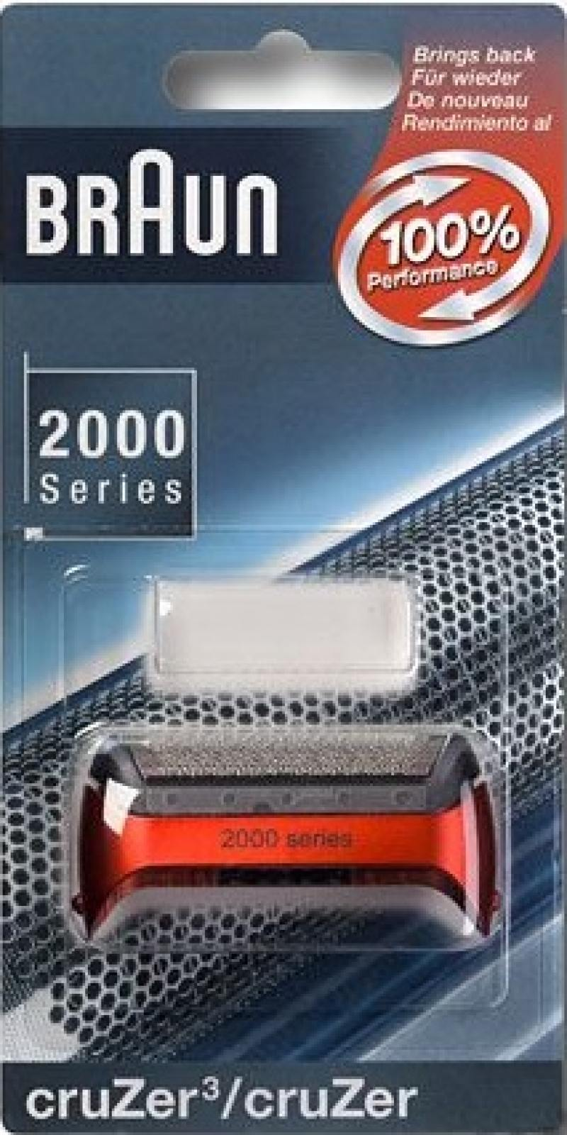 Сетка Braun 2000 CruZer 20S красный бритвенная сетка и режущий блок braun cruzer 20s