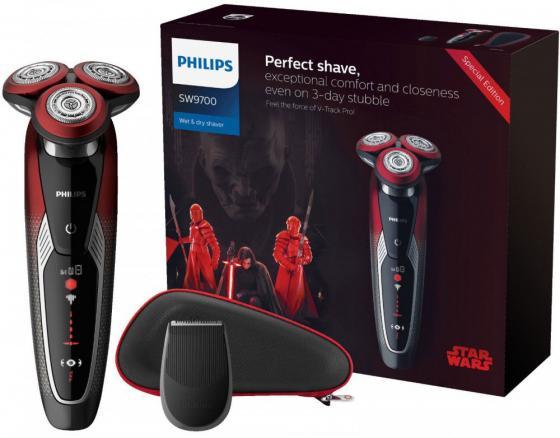 Бритва Philips SW9700/67 красный черный philips hd 2173 03 мультиварка скороварка