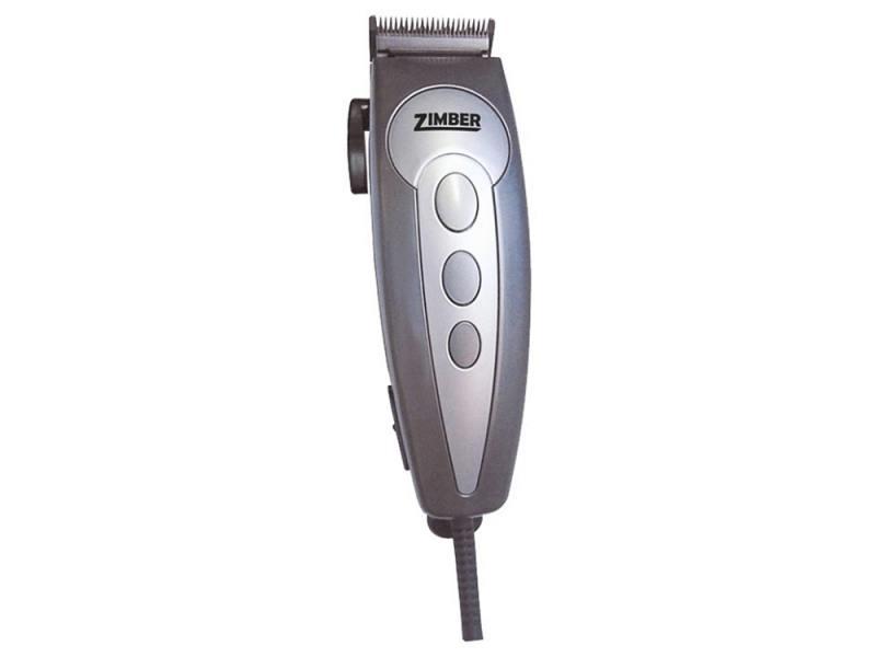 Машинка для стрижки волос Zimber ZM-10038 серебристый серый