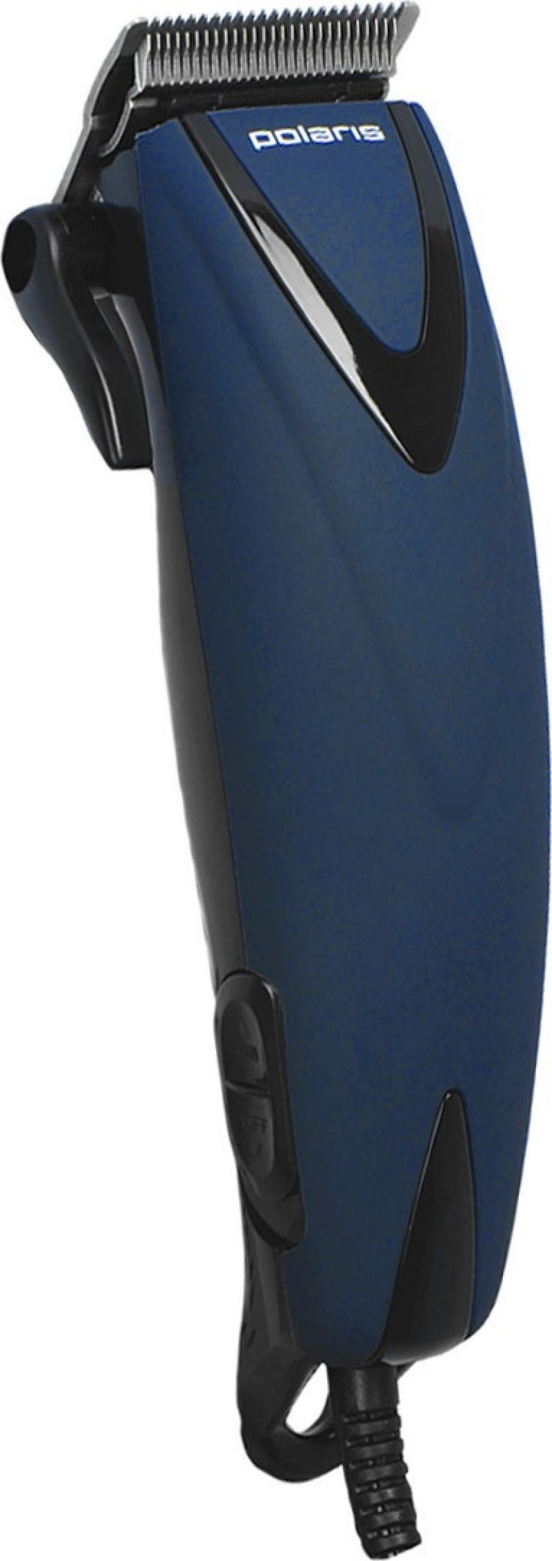 Машинка для стрижки волос Polaris PHC 0714 синий машинка для стрижки волос polaris 2502rc